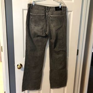 White House Black Market Jeans - WHBM Distressed Boot Cut Embellished Jeans